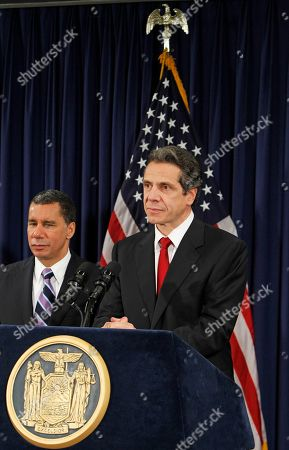David Paterson, Andrew Cuomo Currrent New York Governor David Paterson, left, and Governor-elect Andrew Cuomo listen to reporters' questions during a news conference following their private meeting at Paterson's offices in New York