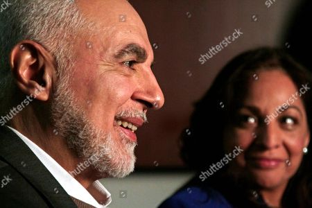 Muslim community leaders Imam Feisal Abdul Rauf and Daisy Khan, husband and wife, hold an interview, in New York. Both are involved with plans for the proposed Islamic cultural centre near the site of the September 11th terrorist attacks