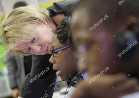 Cathie Black New York City Schools Chancellor Cathie Black, left, looks over students working at P.S. 262 in Brooklyn on her first day as chancellor in New York