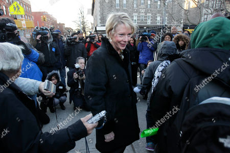 Cathie Black New York City Schools Chancellor Cathie Black, center, greets students as they enter P.S. 262 while the media watch on her first day as chancellor in New York