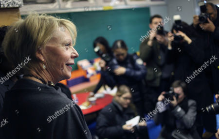 Cathie Black New York City Schools Chancellor Cathie Black meets with teachers at PS 262, the El Hajj Malik El Shabazz school in Brooklyn, while the media look on her first day as chancellor in New York