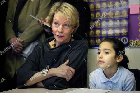 Cathie Black New York City Schools Chancellor Cathie Black, left, sits with student Aliyah Perez, 9, in her classroom at P.S. 262 in New York