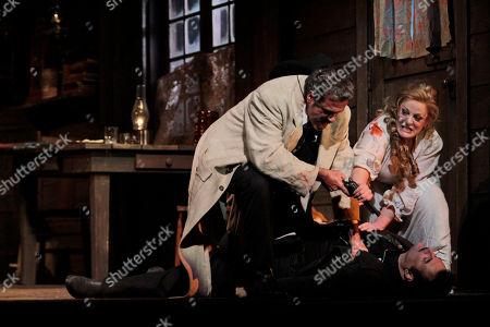 Editorial image of Opera La Fanciulla del West, New York, USA