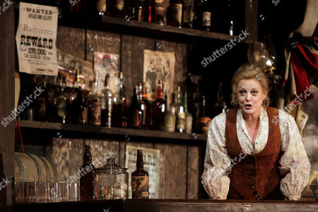 """Deborah Voigt This photo shows Deborah Voigt performing as Minnie during the final dress rehearsal of Giacomo Puccini's """"La Fanciulla del West"""", at the Metropolitan Opera in New York"""