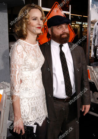 """Stock Picture of Zach Galifianakis, Quinn Lundberg Cast member Zach Galifianakis, right, and Quinn Lundberg arrive at the premiere of """"Due Date"""" in Los Angeles on"""