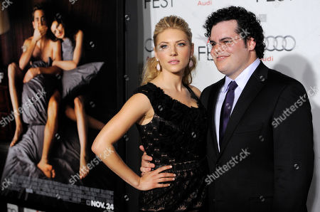 "Kathryn Winnick, Josh Gad Kathryn Winnick, left, and Josh Gad pose together at the premiere of the film ""Love & Other Drugs"" on the opening night of AFI Fest 2010 in Los Angeles"