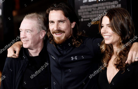 "Christian Bale, Dicky Eklund, Sibi Blazic Cast member Christian Bale, center, his wife, Sibi Blazic, right, and Dicky Eklund pose together at the premiere of ""The Fighter"" in Los Angeles on . Bale plays the role of Eklund in the film"