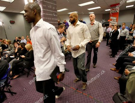 Marcin Gortat, Vince Carter, Mickael Pietrus From left, newly acquired Phoenix Suns' Mickael Pietrus, Vince Carter and Marcin Gortat arrive for a news conference, in Phoenix. The three were acquired from the Orlando Magic for Jason Richardson, Hedo Turkoglu and Earl Clark