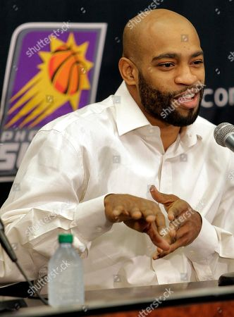 Vince Carter Phoenix Suns' Vince Carter speaks to reporters, in Phoenix. Carter, Marcin Gortat and Mickael Pietrus were acquired from the Orlando Magic for Jason Richardson, Hedo Turkoglu and Earl Clark