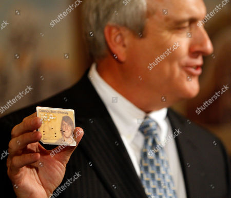 Bill Ritter Colorado Gov. Bill Ritter holds up a student ID card from when he attended Colorado State University, during a news conference at his office in the Capitol in Denver, where he announced he will become director of the Center for the New Energy Economy at Colorado State University on Feb. 1