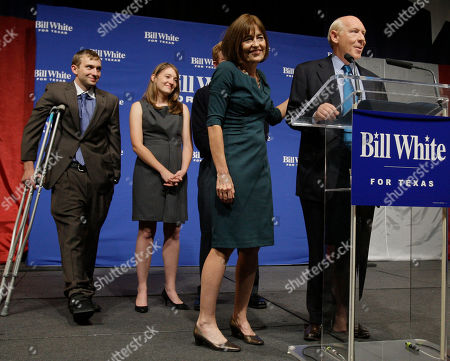 Bill White Texas Democratic gubernatorial candidate Bill White, right, concedes the race to incumbent Rick Perry in Houston as his wife Andrea, center, and children Will and Elena stand beside him