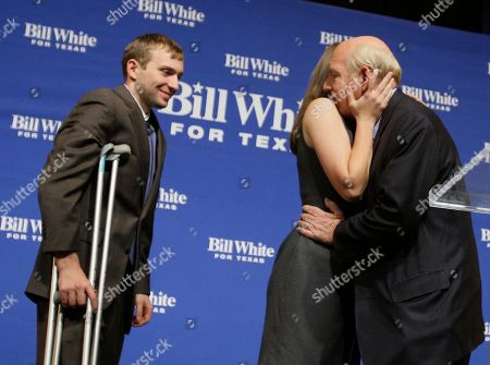 Bill White Texas Democratic gubernatorial candidate Bill White, right, hugs his daughter Elena as his son Will looks on after he conceded the race to incumbent Rick Perry in Houston