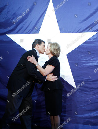 Rick Perry, Anita Perry Texas Republican Gov. Rick Perry, left, kisses his wife Anita Perry at his victory party, in Buda, Texas. Perry defeated Democrat Bill White