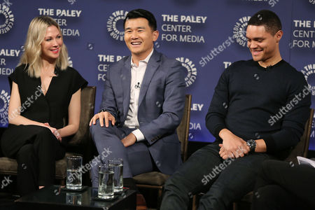 Desi Lydic, Ronny Chieng and Trevor Noah