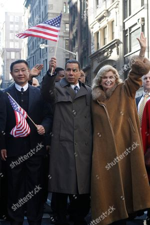 John Liu, David Paterson, Carolyn Maloney New York City Comptroller John Liu, left, Gov. David Paterson, and U.S. Rep. Carolyn Maloney appear at the start of 91st annual Veteran's Day parade in New York, . The parade is the country's oldest and largest