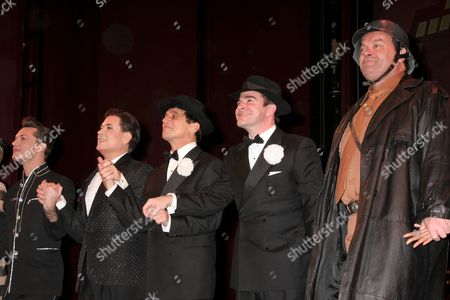 Brad Musgrove as Carmen Ghia, Lee Roy Reams as Roger DeBris, Tony Danza, as Max Bialystock, Roger Bart as Leo Bloom and Bill Nolte as Franz Liebkind