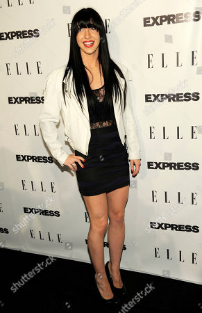 "Stock Image of Amanda Blank Musician Amanda Blank arrives at the ELLE and Express ""25 at 25"" event in West Hollywood, Calif"