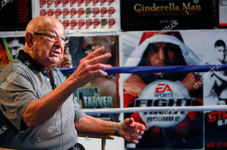 Angelo Dundee Angelo Dundee gestures during an interview at the opening of the new 5th Street Gym, in Miami Beach, Fla. Dundee's brother, Chris Dundee, opened the original gym in 1951 and it eventually hosted Muhammad Ali, Joe Louis, Rocky Marciano, Sugar Ray Robinson and many others. It was torn down 17 years ago, five years before Chris Dundee's death