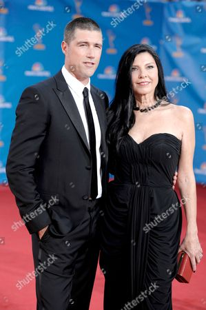 Matthew Fox, Margherita Ronchi Matthew Fox and his wife Margherita Ronchi arrive at the 62nd Primetime Emmy Awards, in Los Angeles