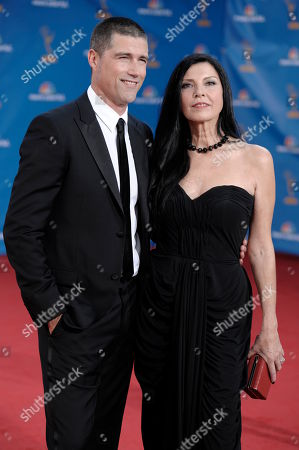 Matthew Fox, Margherita Ronchi Matthew Fox and Margherita Ronchi arrive at the 62nd Primetime Emmy Awards, in Los Angeles