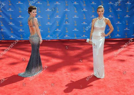 Giuliana DePandi, Maria Menounos Giuliana DePandi, left, and Maria Menounos arrive at the 62nd Primetime Emmy Awards, in Los Angeles