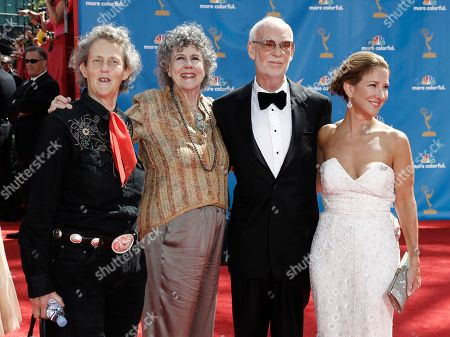 Temple Grandin, Mick Jackson, Emily Gerson Saines From left, Temple Grandin, guest, director Mick Jackson and producer Emily Gerson Saines arrive at the 62nd Primetime Emmy Awards, in Los Angeles