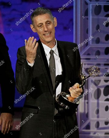 """Stock Image of Steve Shill Steve Shill accepts the award for outstanding directing for a drama series for """"Dexter"""" during the 62nd Primetime Emmy Awards, in Los Angeles"""