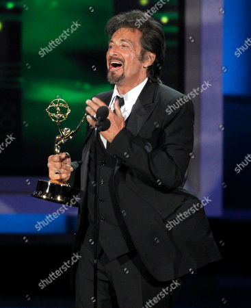 Al Pacino Al Pacino acknowledges Dr. Jack Kevorkian as he accepts the award for outstanding lead actor in a miniseries or movie during the 62nd Primetime Emmy Awards, in Los Angeles