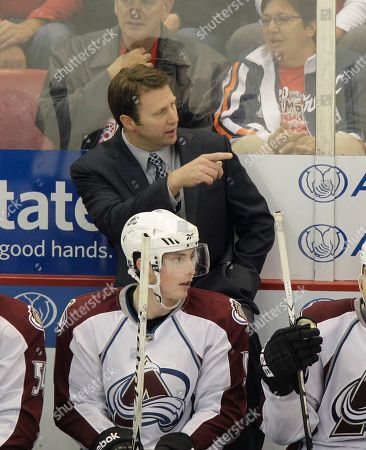 Joe Sacco Colorado Avalanche head coach Joe Sacco directs from the bench during the second period of an NHL hockey game against the Detroit Red Wings in Detroit