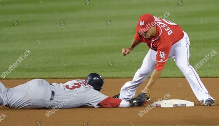 Ian Desmond, Felipe Lopez Washington Nationals shortstop Ian Desmond, right, picks off St. Louis Cardinals' Felipe Lopez at second base during the fifth inning of their baseball game at Nationals Park in Washington