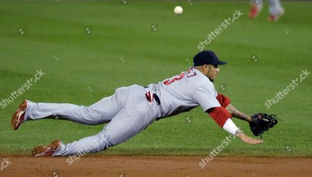 Felipe Lopez St. Louis Cardinals second baseman Felipe Lopez dives for a ball on a hit by the Washington Nationals during the third inning of their baseball game at Nationals Park in Washington
