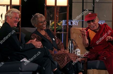 Dalai Lama, Richard Gere, Alice Walker From left, actor Richard Gere, author Alice Walker, and The Dalai Lama, speak at Emory University, in Atlanta