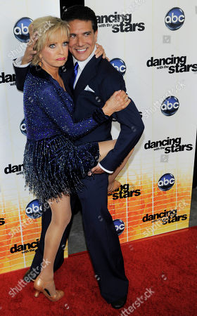 "Florence Henderson, Corky Ballas Contestant Florence Henderson and her dance partner Corky Ballas pose together following the 11th season premiere of ""Dancing with the Stars"