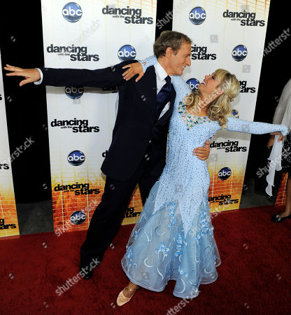 "Florence Henderson, Corky Ballas Contestant Florence Henderson and her dance partner Corky Ballas pose at the 11th season premiere of ""Dancing with the Stars"