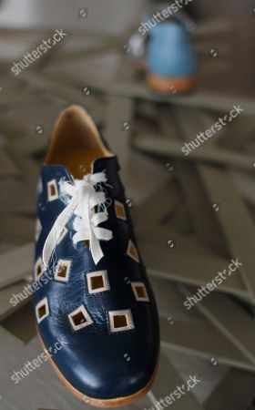 Stock Photo of George Esquivel Shoes from designer George Esquivel's Spring/Summer 2011 collection are presented in New York