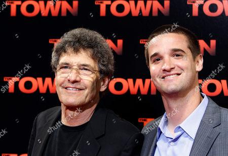 """Alan Horn, Matt Horne Alan Horn, left, and Matt Horne pose at the premiere of the film """"The Town"""" at Fenway Park in Boston"""