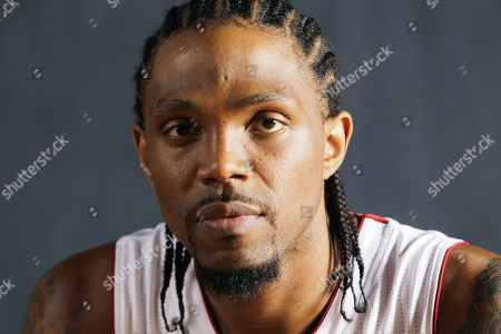 Udonis Haslem Basketball player Udonis Haslem poses for photos during the Miami Heat media day
