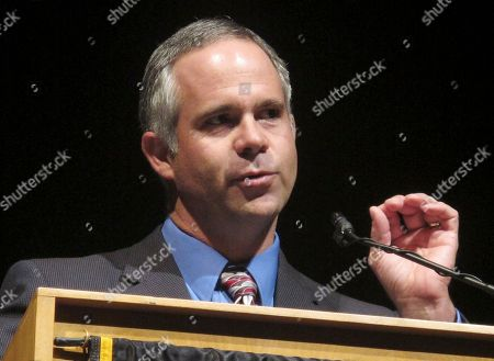 Republican congressional candidate Tim Huelskamp speaks at Emporia State University in Emporia, Kan. Huelskamp is running for the 1st congressional seat in Kansas
