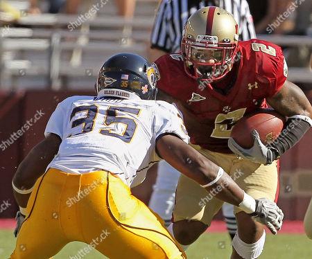 Editorial picture of Kent St Boston College Football, Boston, USA