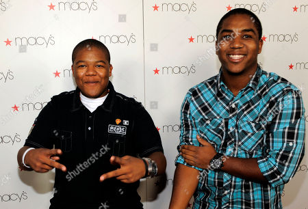 """Chris Massey, Kyle Massey Chris Massey, left, and Kyle Massey arrive at """"Macy's Passport Presents Glamorama"""" in Los Angeles on"""