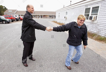 Bill Keating Pulling away in a hurry in order to make it inside the Post Office before it closes at noon voter Laura Wood says she intends to vote for Democratic candidate for the Massachusetts 10th congressional district Bill Keating, left, while he campaigns in the Post Office parking lot in Truro, Mass., Saturday morning