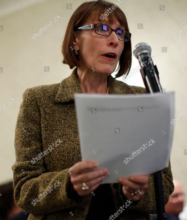Stock Image of Wenonah Hauter Wenonah Hauter of Food and Water Watch speaks at an FDA veterinary medicine advisory committee hearing on modified salmon in Rockville, Md