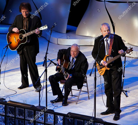 Stock Picture of Earl Scruggs, Randy Scruggs, Gary Scruggs Bluegrass legend Earl Scruggs, center, performs with his sons, Randy, left, and Gary, right, during the International Bluegrass Music Awards show, in Nashville, Tenn