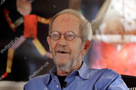 Elmore Leonard In this Sept. 28, 2010 photo, author Elmore Leonard is interviewed at his home in Bloomfield Township, Mich. Court records show Leonard is divorcing his wife of 18 years. The Detroit News reports that he and Christine Leonard split earlier this year and she filed for divorce in May. Oakland County Circuit Court records say Christine cited a breakdown in the marriage for unspecified reasons