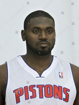 Stock Image of Jason Maxiell Detroit Pistons forward Jason Maxiell poses during media day at the team's practice facility in Auburn Hills, Mich