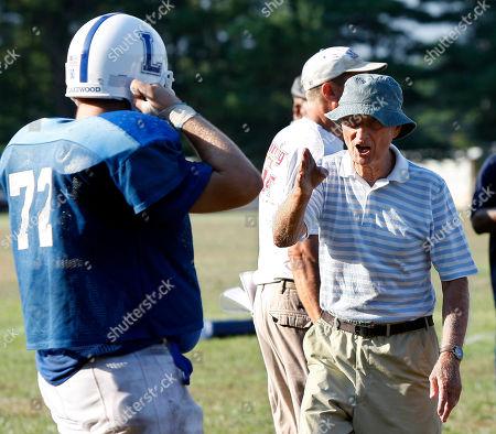 Warren Wolf Lakewood High School football coach Warren Wolf directing players during practice, in Lakewood, N.J