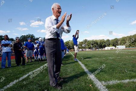 Warren Wolf Lakewood High School football coach Warren Wolf directs his team during a game against Monsignor Donovan High School, in Lakewood, N.J