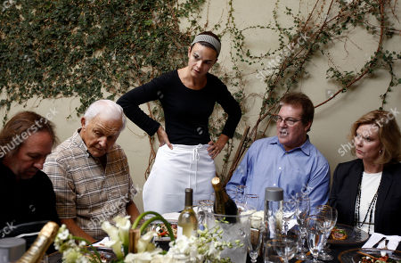 Mick McCullough, Paul Napier, Suzanne Goin, Jeff Margolis, JoBeth Williams From left, SAG Awards supervising producer Mick McCullough, SAG Awards Committee member Paul Napier, chef Suzanne Goin, of Lucques Catering, SAG Awards executive producer and director Jeff Margolis, and SAG Awards Committee Chair JoBeth Williams are seen during a tasting of the proposed menu and alternatives for the SAG Awards by Lucques Catering in Los Angeles, Thursday, Oct. 14. 2010
