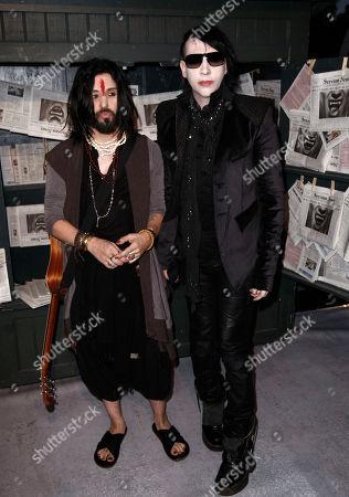 Marilyn Manson, Twiggy Ramirez Marilyn Manson, left, and Twiggy Ramirez arrive at the Scream Awards, in Los Angeles