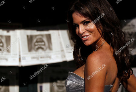 Betsy Russell Betsy Russell arrives at the Scream Awards, in Los Angeles